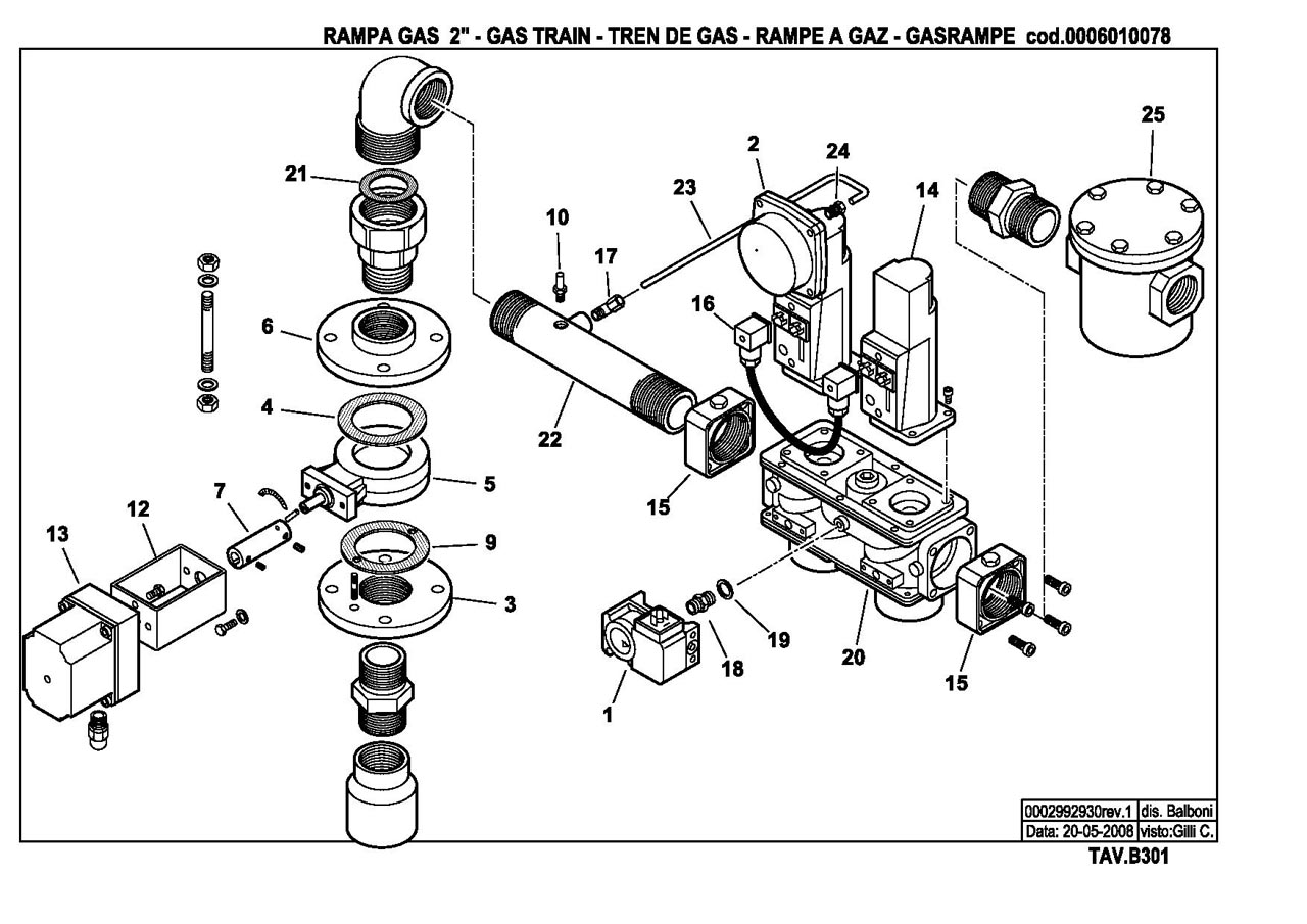 Газовая горелка Baltur GI 350 ME