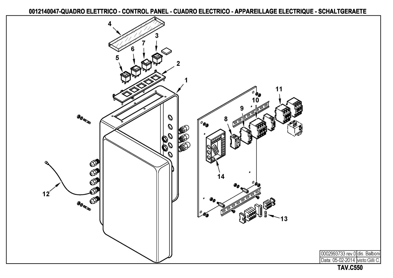 Газовая горелка Baltur GI 500 MC