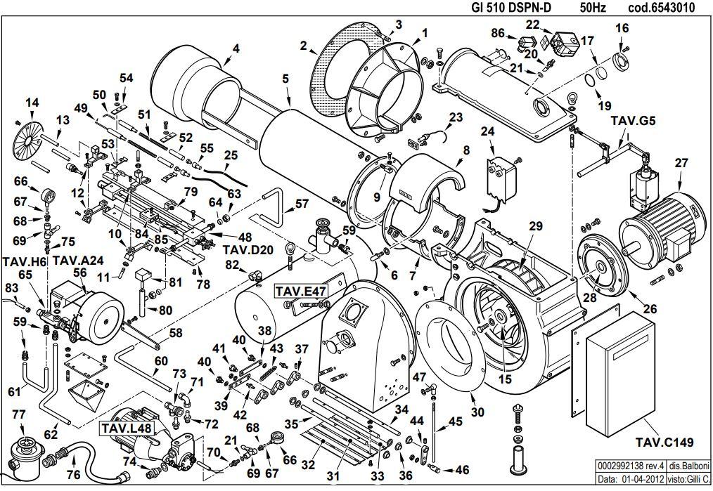 Baltur GI 510 DSPN-D100