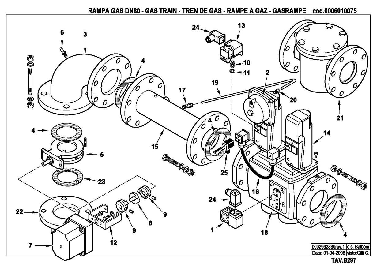 Газовая горелка Baltur GI 510 ME