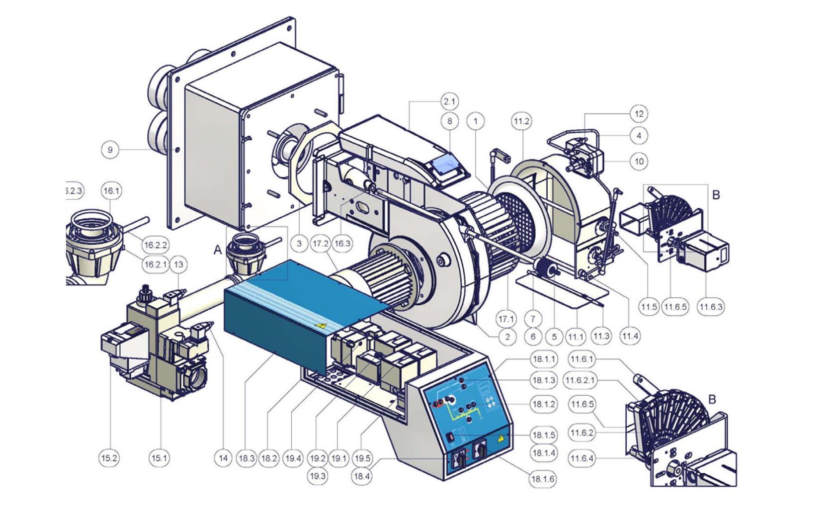 CIB Unigas Miniflam Tecnopan P60 VS