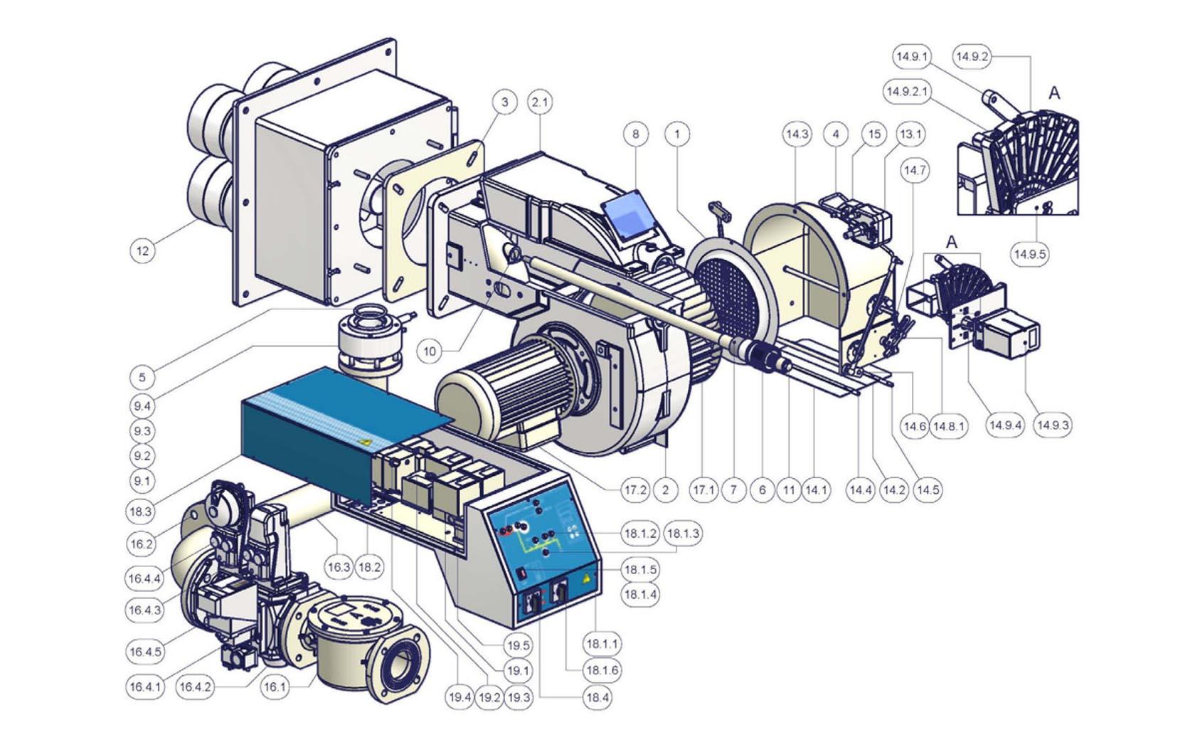 CIB Unigas Miniflam Tecnopan P72 VS
