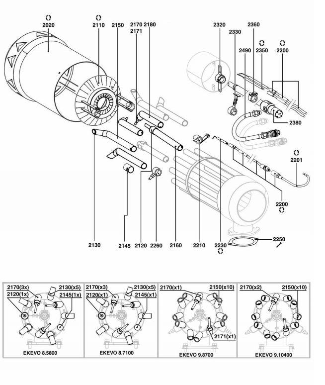 Elco /Cuenod EK EVO 9.10400 GL-E/BT3