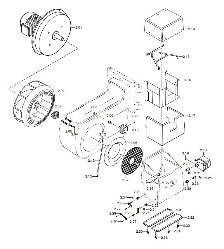 Газовая горелка Weishaupt G-70/2-A ZM-LN