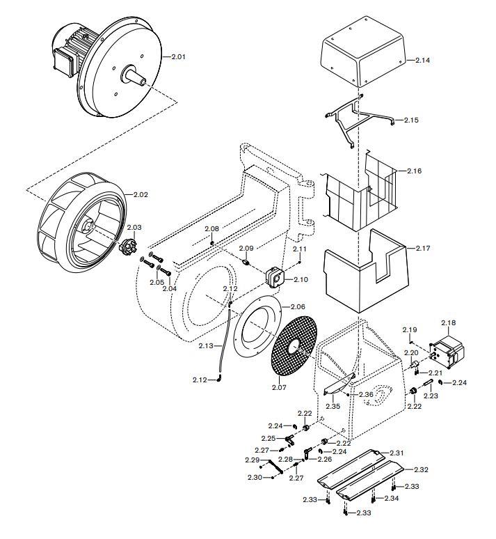Газовая горелка Weishaupt RGL 70/2-A ZM-1 LN