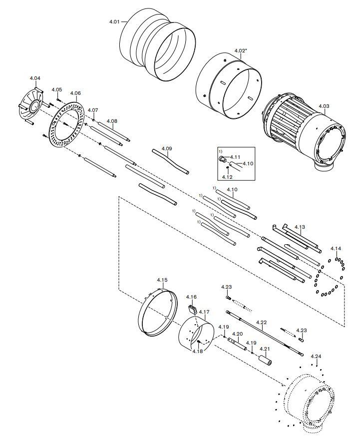 Газовая горелка Weishaupt RGMS 70/1-B ZM-NR