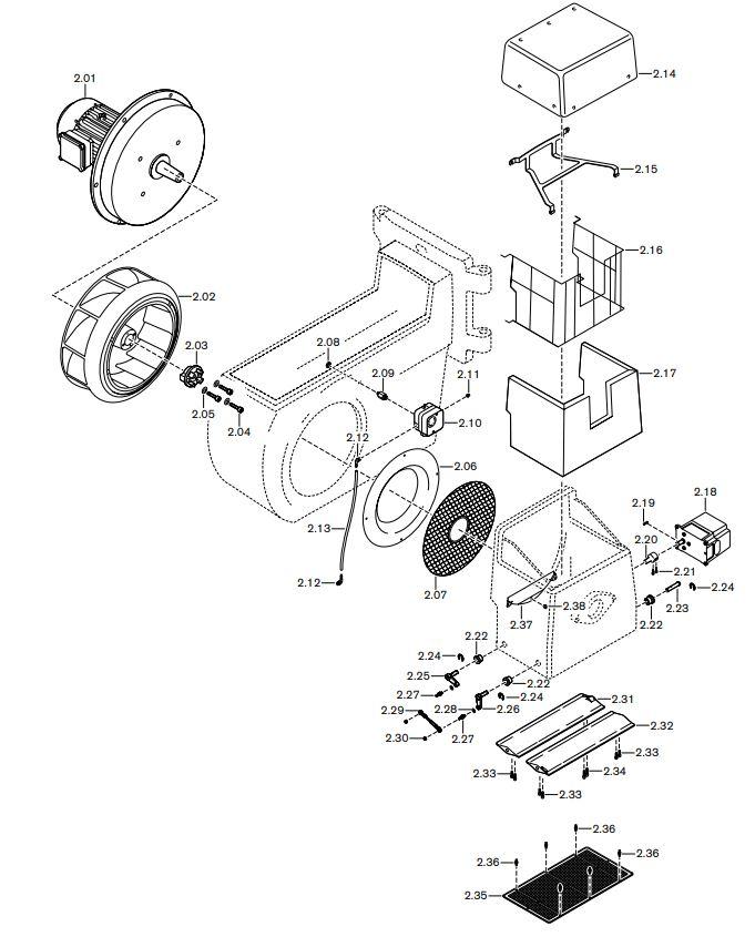 Газовая горелка Weishaupt RGMS 70/4-A ZM-NR