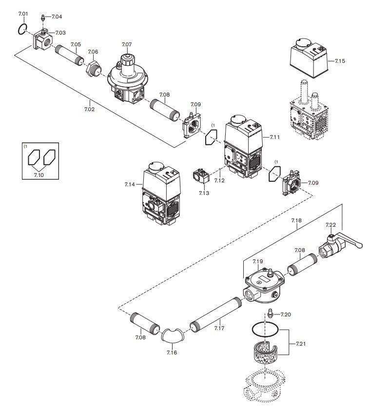 Газовая горелка Weishaupt WG 40 F/1-A ZM-LN