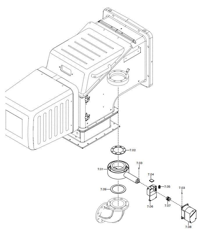 Газовая горелка Weishaupt WK-G 70/1-B ZM-NR