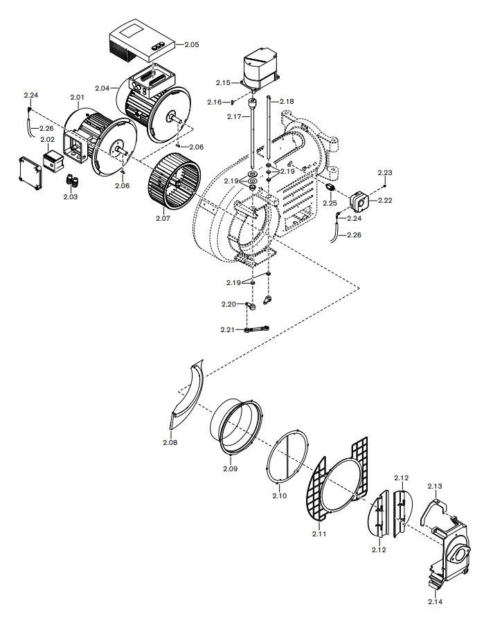 Газовая горелка Weishaupt WM-G 10/4-A ZMI