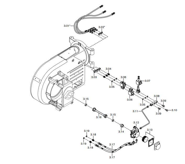 Газовая горелка Weishaupt WM-GL 10/3-A ZM-T