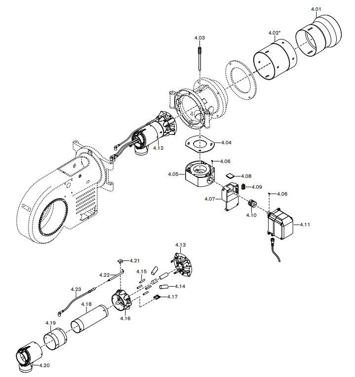 Газовая горелка Weishaupt WM-GL 20/2-A ZM-R
