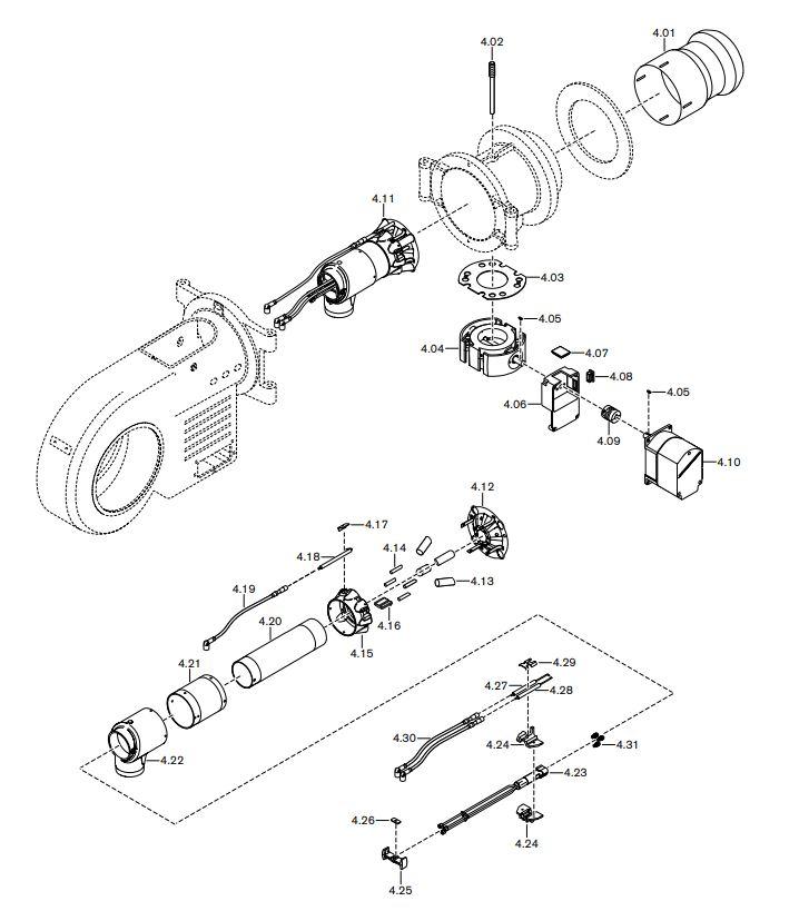 Газовая горелка Weishaupt WM-GL 30/1-A ZM-T