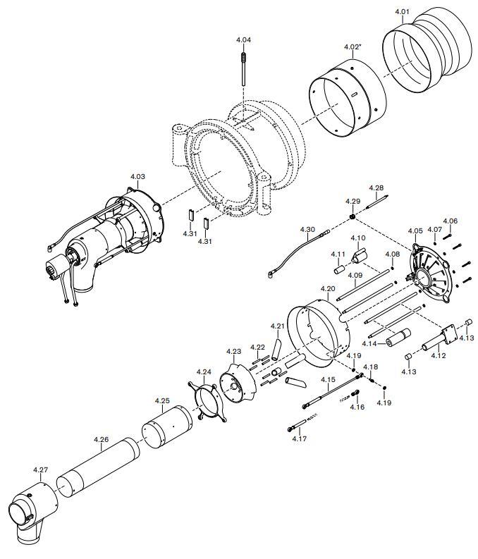 Газовая горелка Weishaupt WM-GL 50/2-A ZM-R-NR