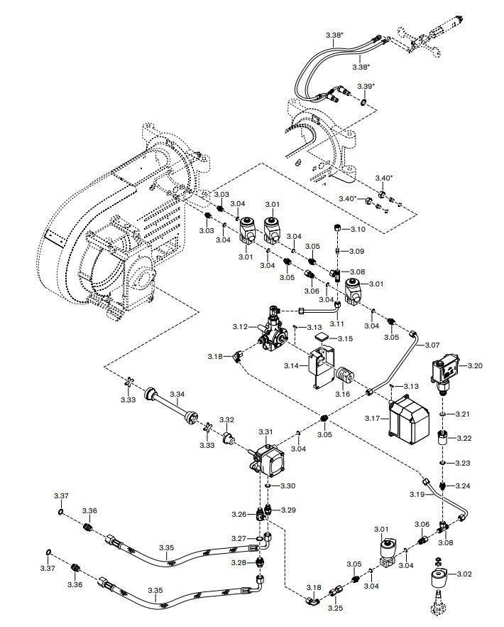 Газовая горелка Weishaupt WM-L 10/2-A R