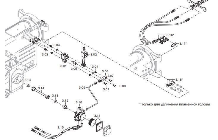 Газовая горелка Weishaupt WM-L 10/2-A T